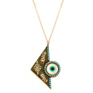 Evil Eye Handmade 925 Sterling Silver Necklace