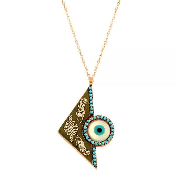 Evil Eye Handmade 925 Sterling Silver Necklace