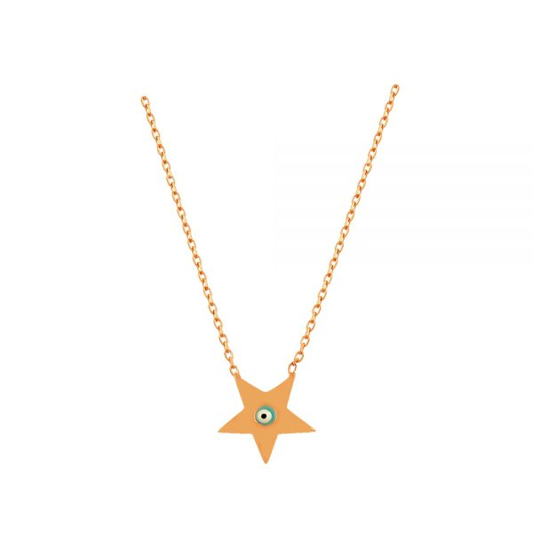 Star Evil Eye Handmade Sterling Silver Necklace 137