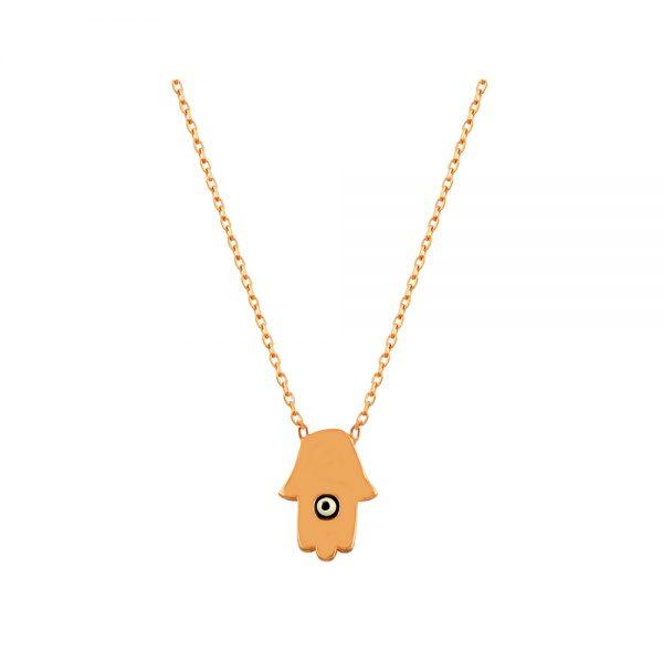 Hamsa Evil Eye Handmade Sterling Silver Necklace 140