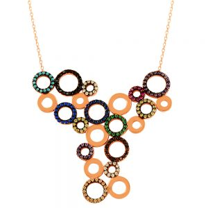 Circles Handmade Sterling Silver Necklace (2)