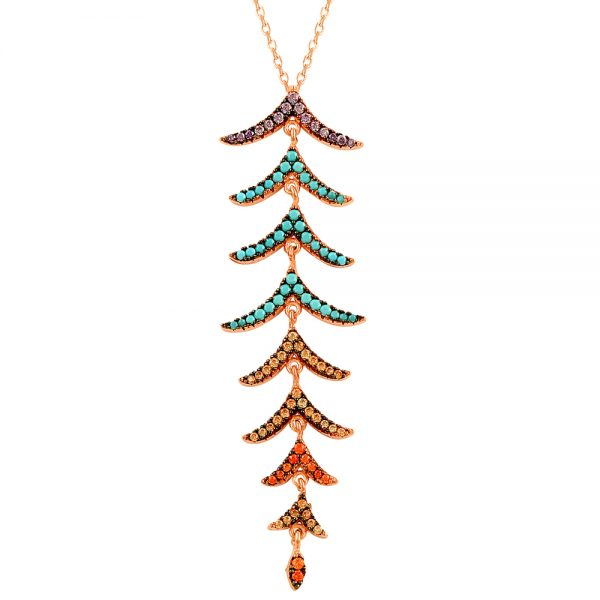 Colorful Tree Handmade Silver Necklace (24)