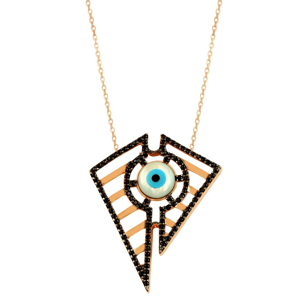 Wings Evil Eye Handmade Sterling Silver Necklace 47