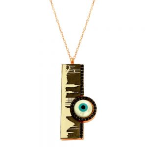 Istanbul Evil Eye Handmade Sterling Silver Necklace 53