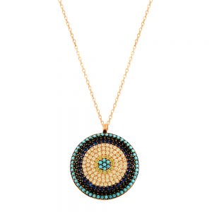 5 Colors Evil Eye Handmade 925 Sterling Silver Necklace