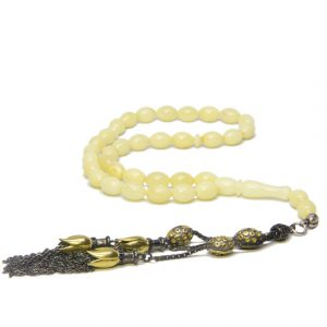 Baltic Amber Rosary Misbaha with 925 Sterling Silver Limited Edition Tassel
