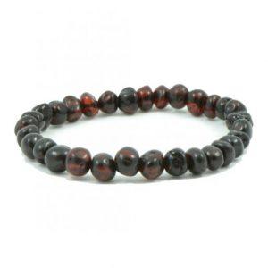 cherry color amber bracelet