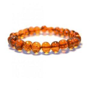 cognac color amber bracelet