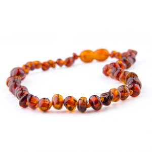 cognac color amber necklace