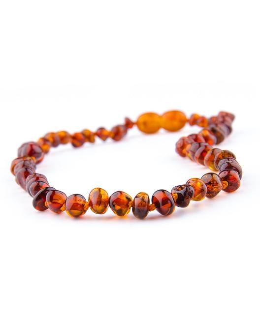 cognac color amber necklace