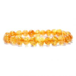 honey color amber bracelet