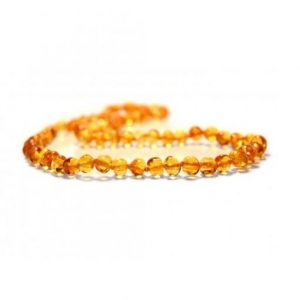 honey color amber necklace