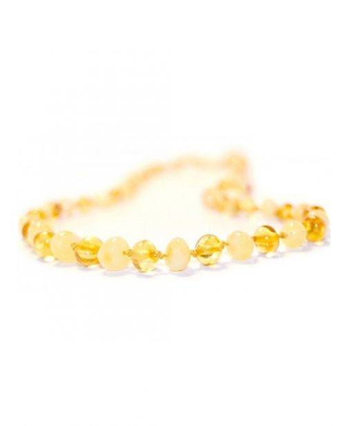 milky lemon color amber necklace