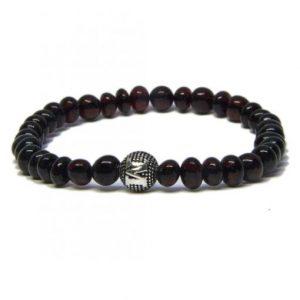 personalized design cherry color amber bracelet
