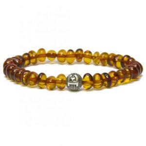 personalized design cognac color amber bracelet