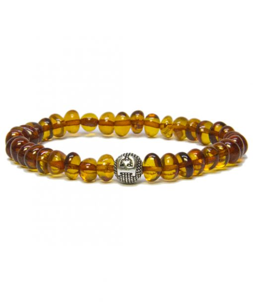 personalized design cognac color amber bracelet