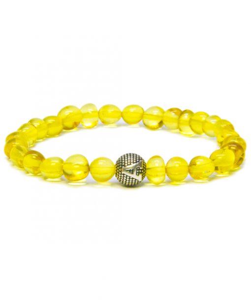 personalized design honey color amber bracelet