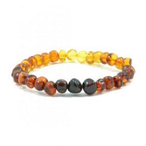 rainbow color amber bracelet