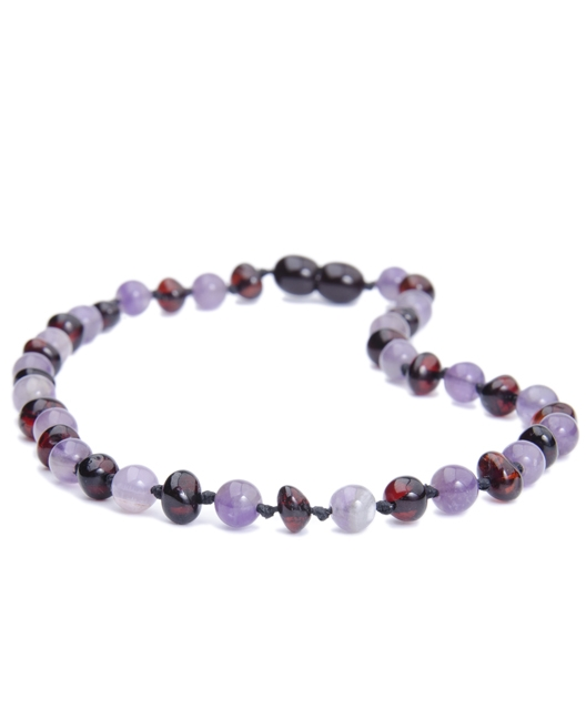 Amethyst - Cherry Color Amber Necklace
