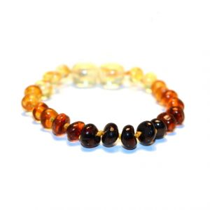 Rainbow Color Amber Bracelet
