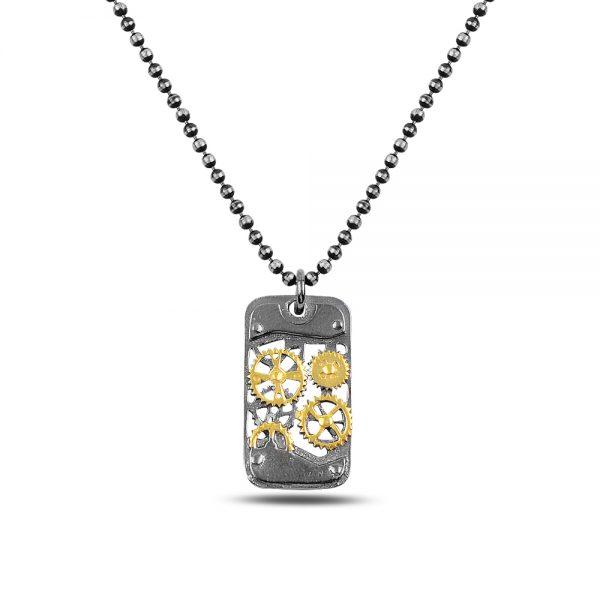 Gear Silver Necklace