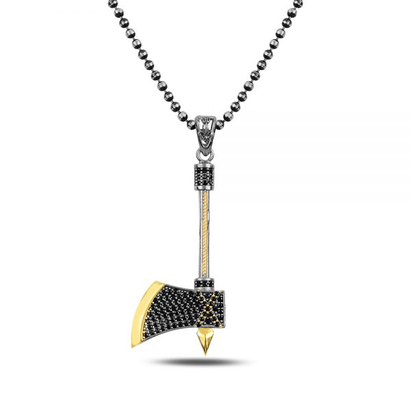 Axe Silver Necklace