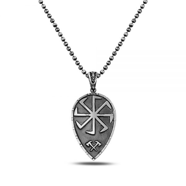 Shield Silver Necklace
