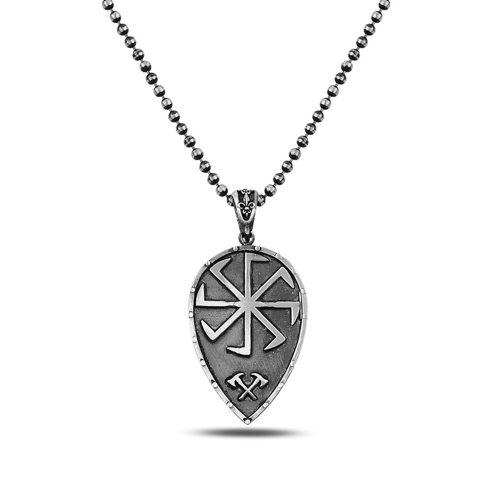 Shield Silver Necklace