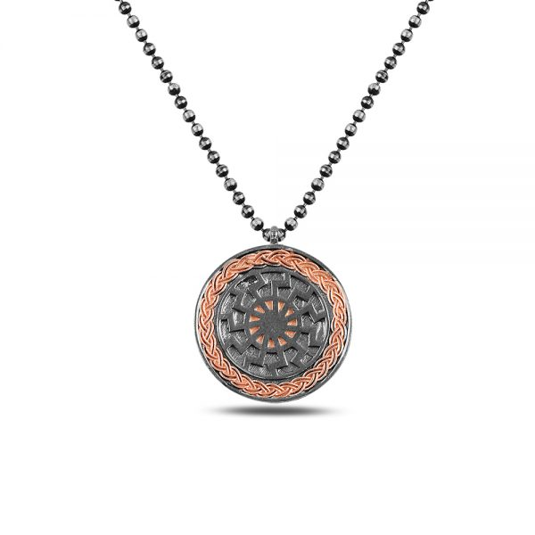 Rose Round Silver Necklace