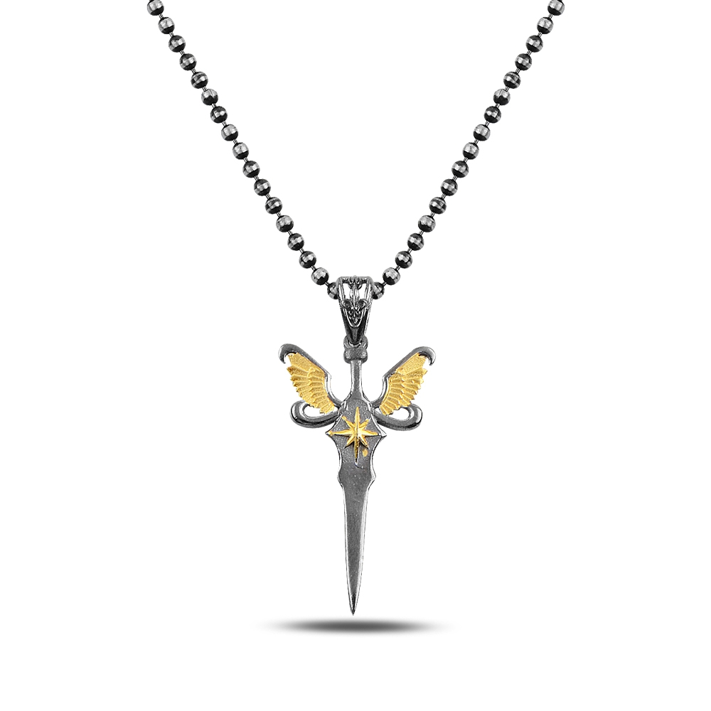 Gold Angel Silver Necklace