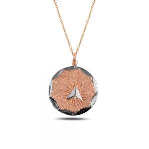 Rose Antique Silver Necklace