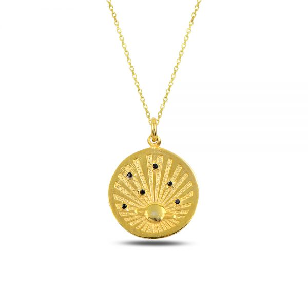 Antique Sun Silver Necklace