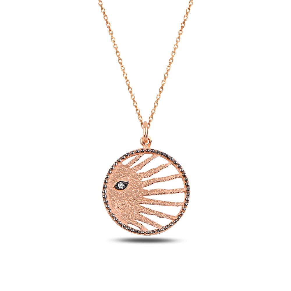 Antique Eye Silver Necklace