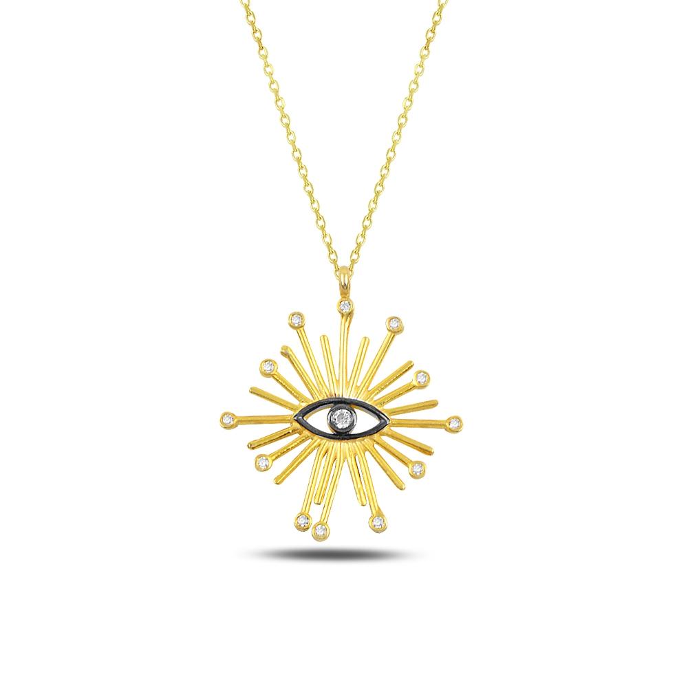 Black Eye Silver Necklace