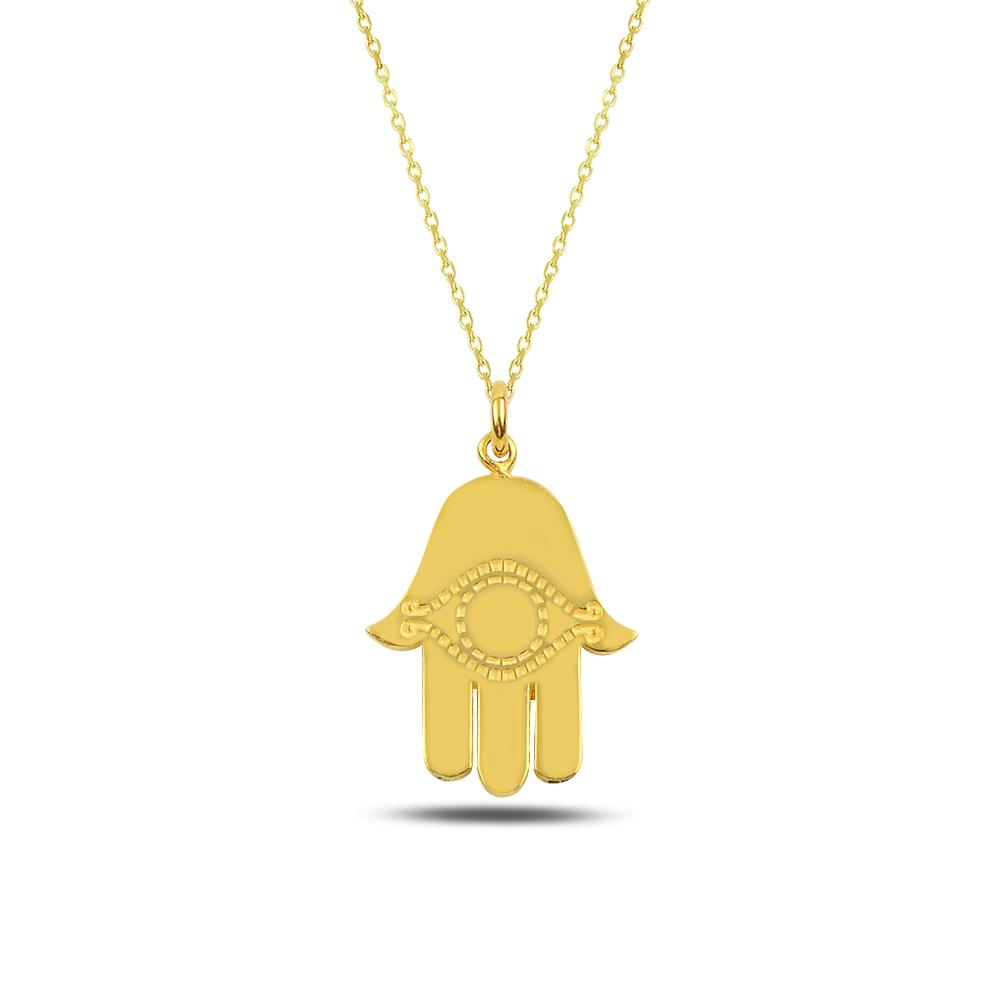 Hamsa Silver Necklace