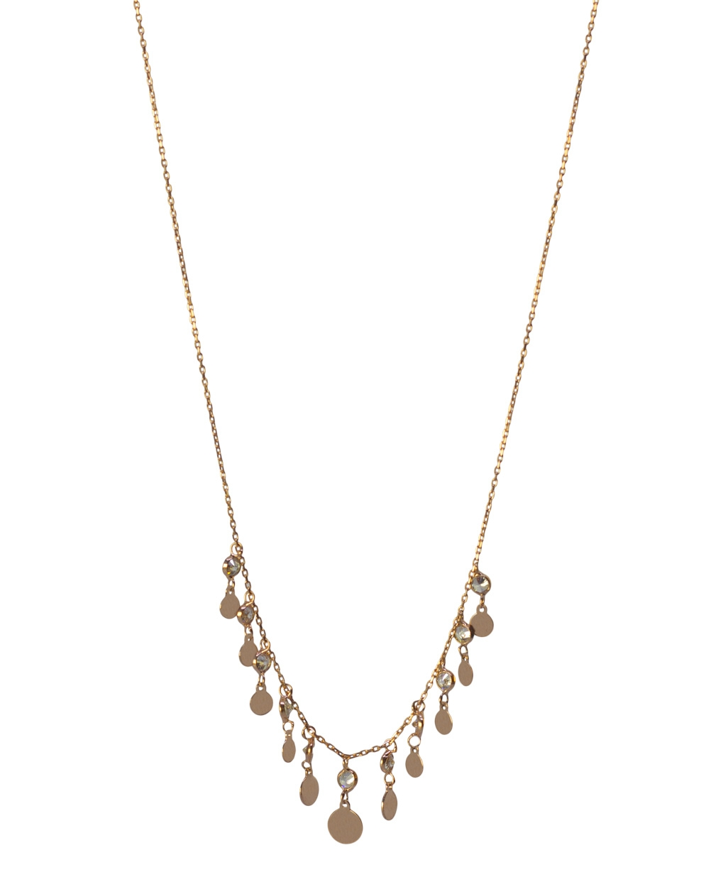 Gourmet Round Flake Silver Necklace