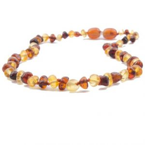 Lemon Cognac Color Amber Necklace