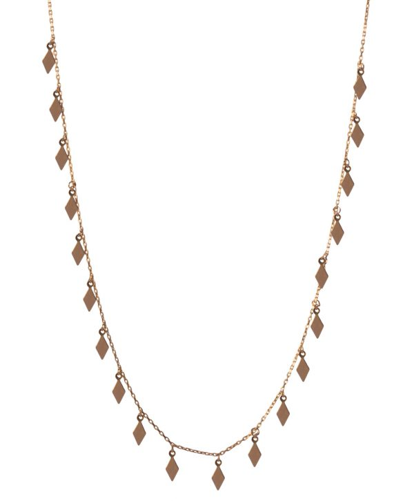 Dimond Silver Necklace-1