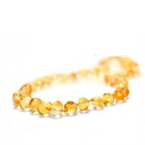 Lemon Color Amber Necklace