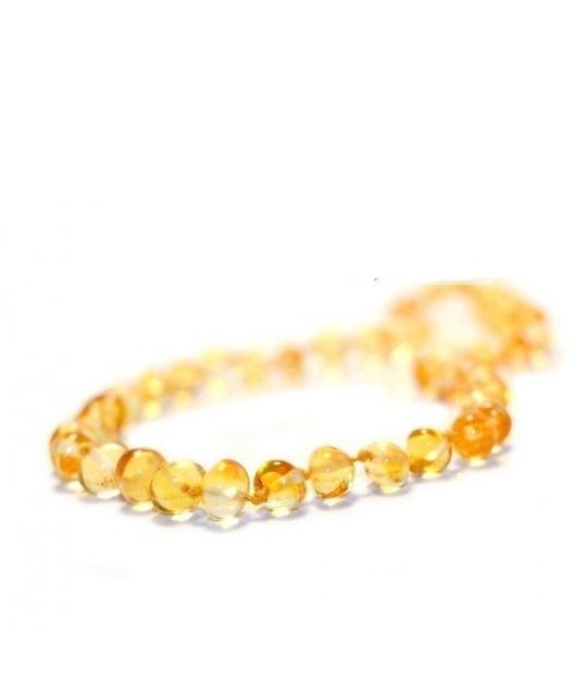 Lemon Color Amber Necklace