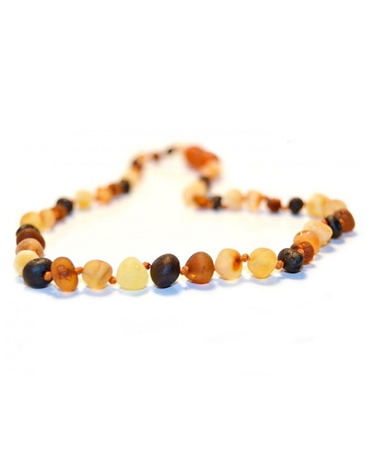 Matt Multicolor Color Amber Necklace