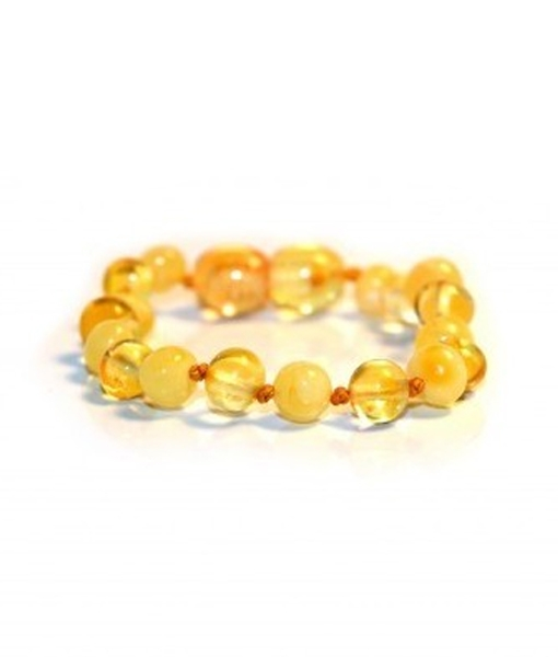 Milky Lemon Color Amber Bracelet