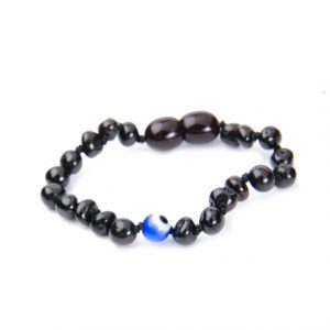 Cherry Color Evil Eye Amber Bracelet