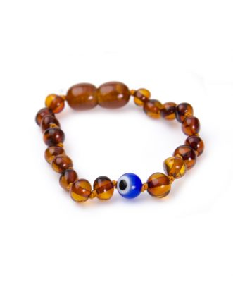 Cognac Color Evil Eye Amber Bracelet