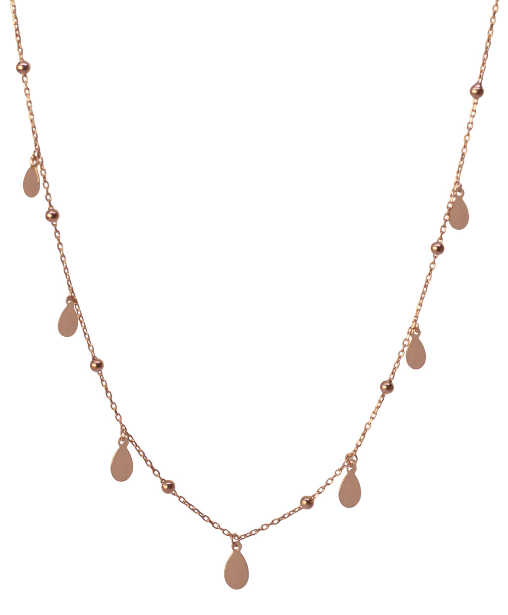Flake Silver Necklace