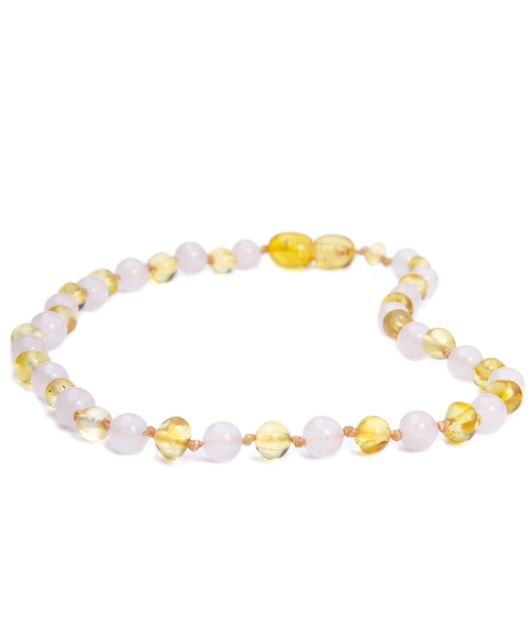 Quartz Lemon Color Amber Necklace