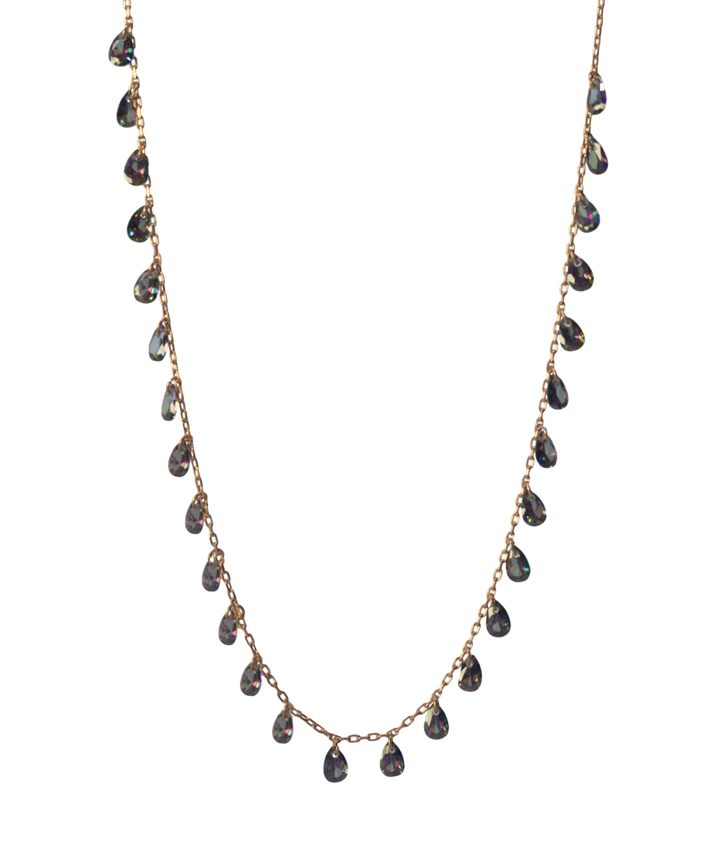 Anthracite Silver Necklace