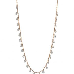 Crystal Color Zircon Silver Necklace