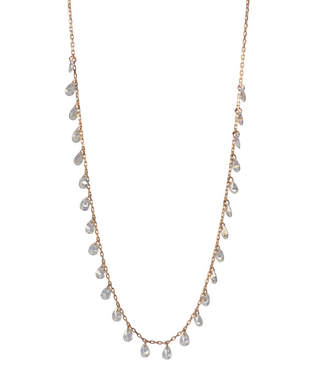 Crystal Color Zircon Silver Necklace