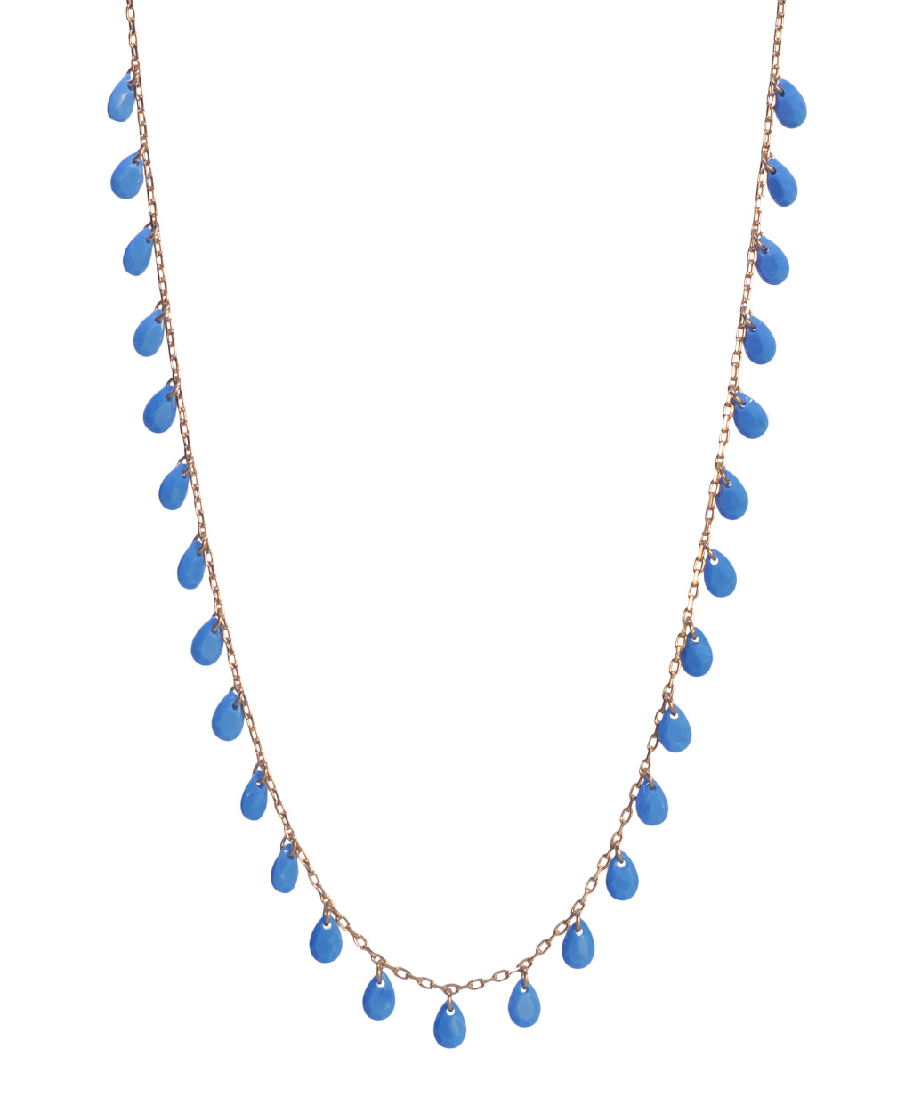 Turquoise Zircon Silver Necklace